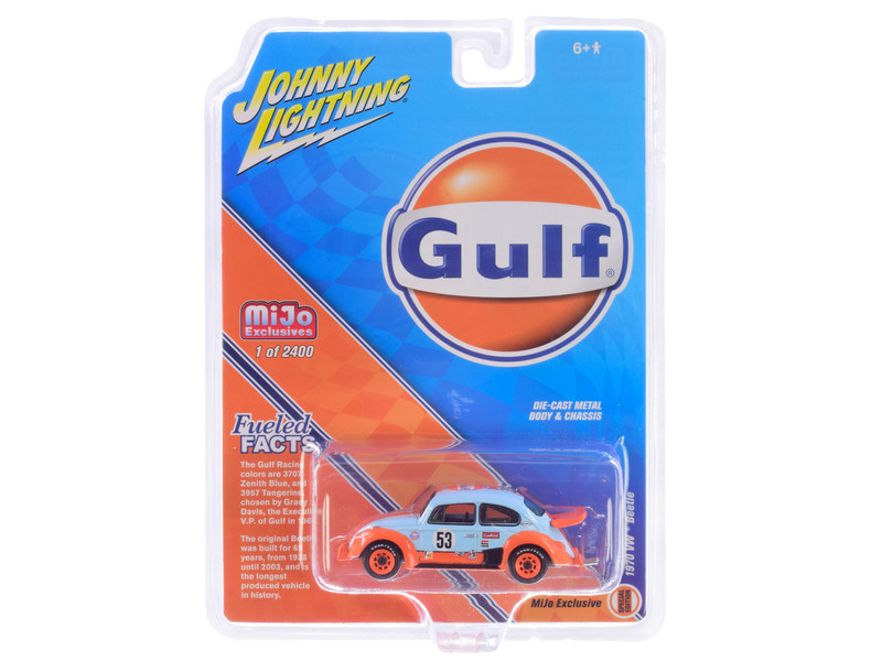 1970 Volkswagen Beetle Racing #53 Gulf Oil Limited Edition 2400 pieces Worldwide 1/64 Diecast Model Car Johnny Lightning JLCP7305