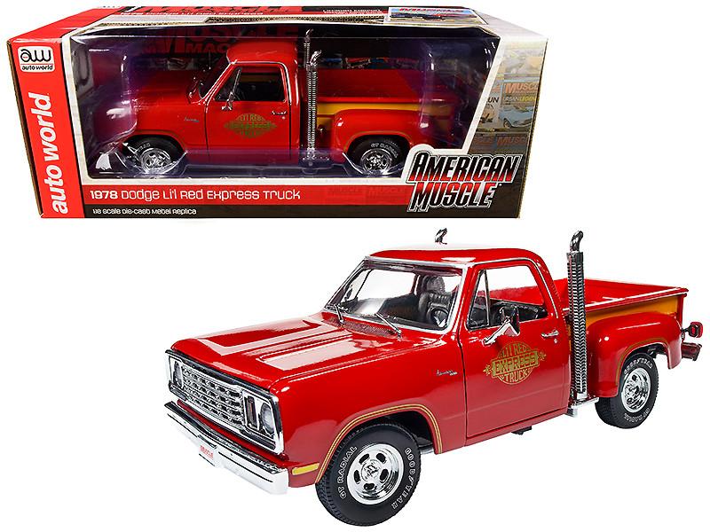 1978 Dodge Adventurer 150 Pickup Truck Li'l Red Express Truck Hemmings Muscle Machines Magazine Cover Car January 2005 1/18 Diecast Model Car Autoworld AMM1194