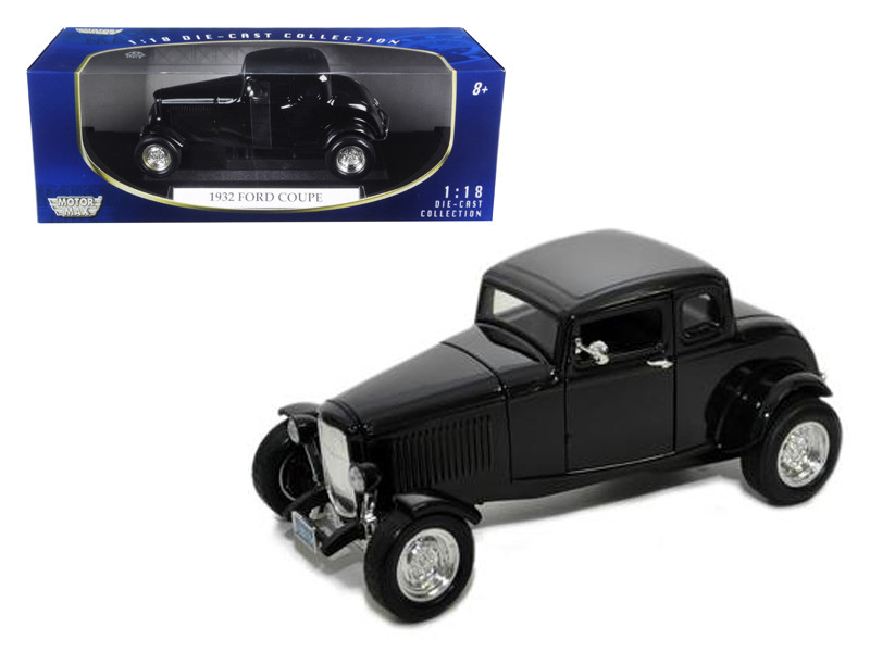 1932 Ford Coupe Black 1/18 Diecast Model Car Motormax 73171