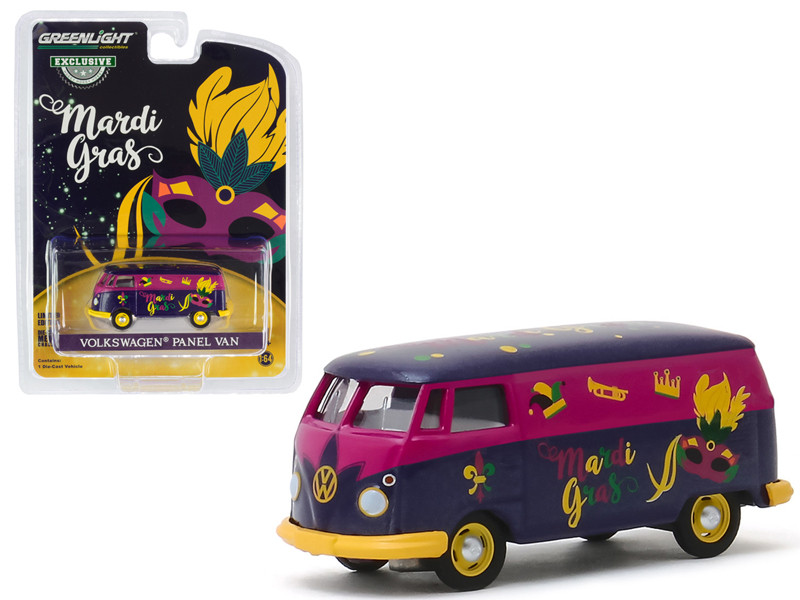 Volkswagen Panel Van Purple Metallic Mardi Gras 2020 Hobby Exclusive 1/64 Diecast Model Greenlight 30126