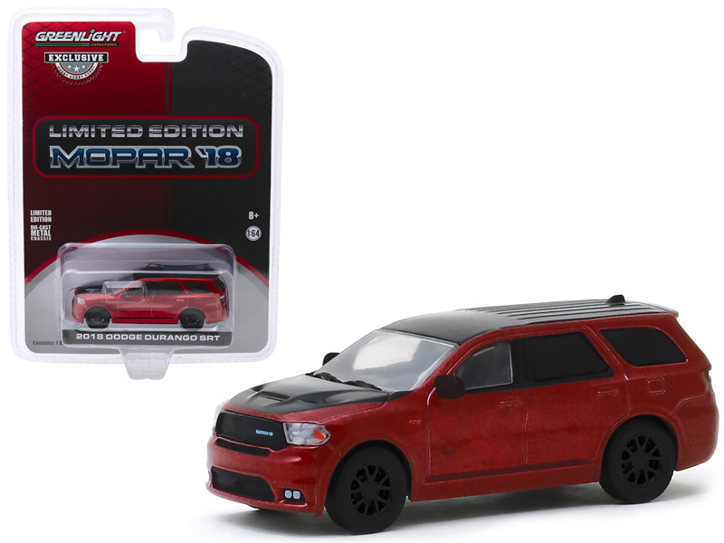 2018 Dodge Durango SRT Octane Red Black Limited Edition MOPAR '18 Hobby Exclusive 1/64 Diecast Model Car Greenlight 30131