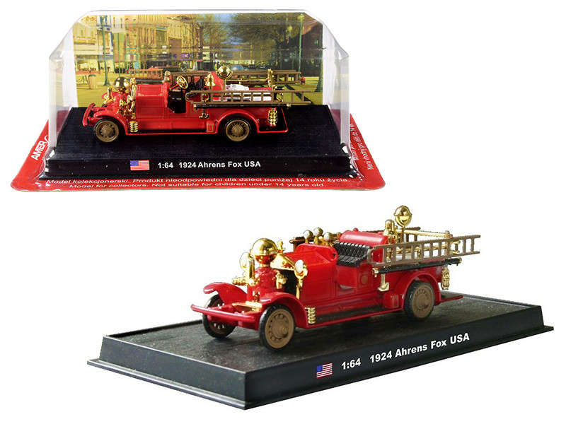1924 Ahrens Fox Fire Engine 1/64 Diecast Model Amercom ACSF28