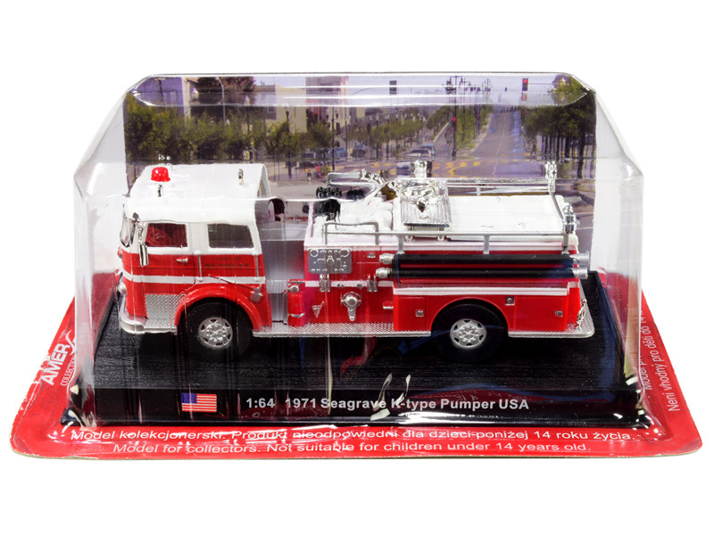 1971 Seagrave K-Type Pumper Fire Engine County of Kentucky 1/64 Diecast Model Amercom ACSF29