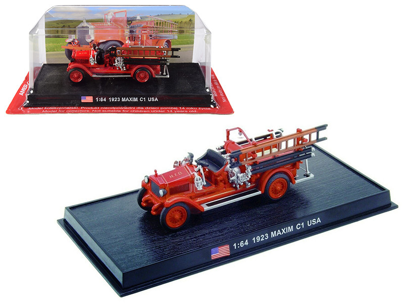 1923 Maxim C1 Fire Engine Houston Fire Department HFD Houston Texas 1/64 Diecast Model Amercom ACSF58