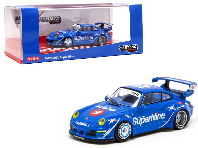 Porsche 993 RWB #9 Illest Asia SuperNine 1/64 Diecast Model Car Tarmac Works T64-017-HK