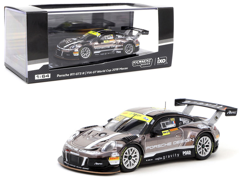 Porsche 911 GT3 R #991 Mathieu Jaminet Macau GT Cup FIA GT World Cup 2018 1/64 Diecast Model Car Tarmac Works T64-032-18MGP991