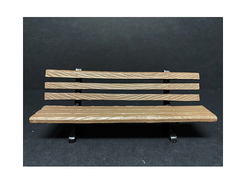 Park Bench 2 Piece Accessory Set for 1/18 Scale Models American Diorama 38435