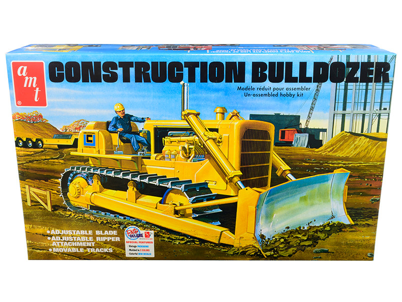 Skill 3 Model Kit Construction Bulldozer 1/25 Scale Model AMT AMT1086