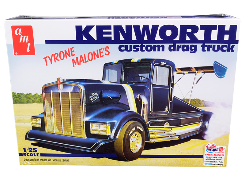 Skill 3 Model Kit Tyrone Malone's Kenworth Custom Drag Truck 1/25 Scale Model AMT AMT1157