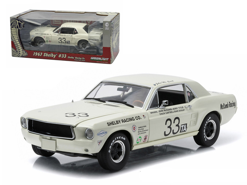 1967 Ford Shelby Mustang #33 Shelby Racing Co. Jerry Titus & John McComb Racing Tribute Edition 1/18 Diecast Model Car Greenlight 12935