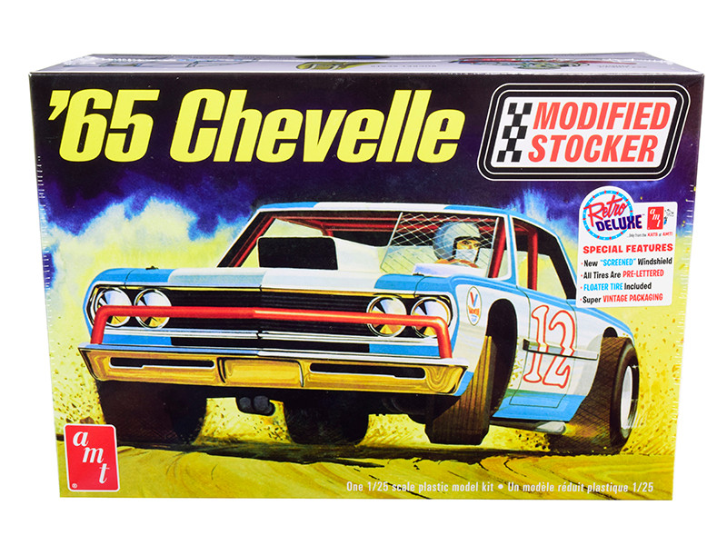 Skill 2 Model Kit 1965 Chevrolet Chevelle Modified Stocker 1/25 Scale Model AMT AMT1177
