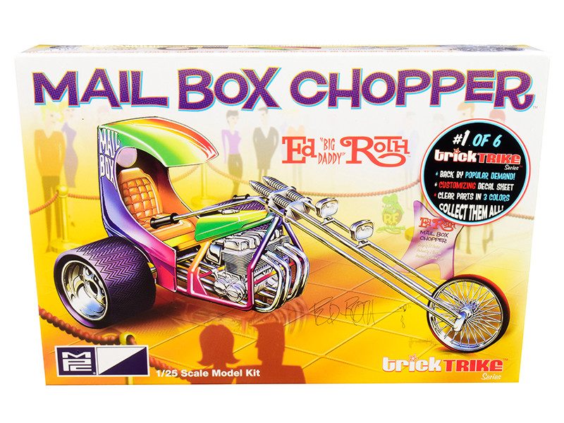 Skill 2 Model Kit Mail Box Chopper Trike Ed Big Daddy Roth's Trick Trikes Series 1/25 Scale Model MPC MPC892