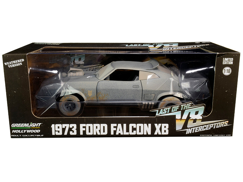 1973 Ford Falcon XB RHD Right Hand Drive Weathered Version Last of the V8 Interceptors 1979 Movie 1/18 Diecast Model Car Greenlight 13559