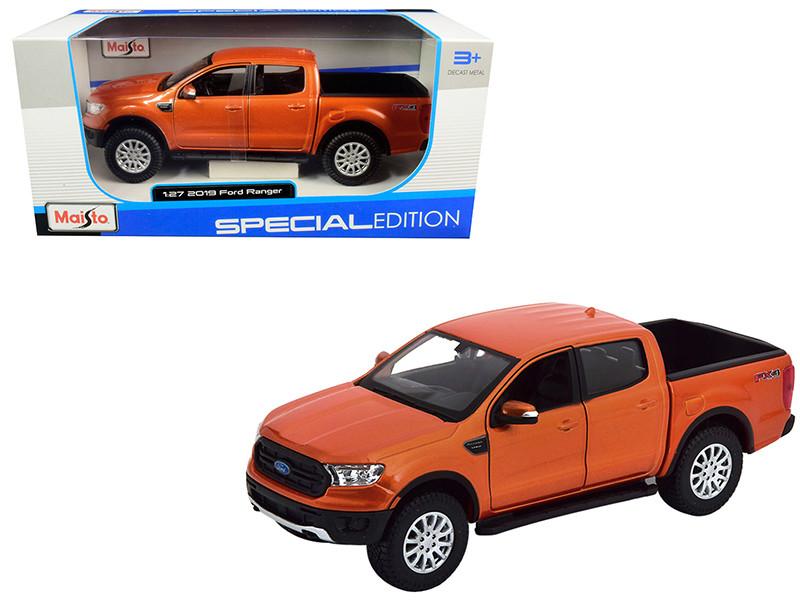 2019 Ford Ranger FX4 Off Road Pickup Truck Copper Orange Metallic 1/27 Diecast Model Car Maisto 31521
