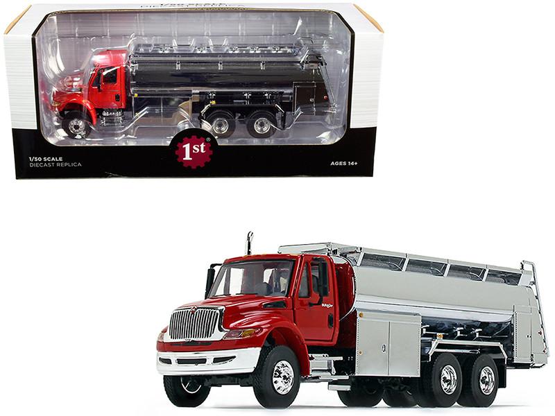 International DuraStar Liquid Fuel Tank Truck Viper Red Chrome 1/50 Diecast Model First Gear 50-3433