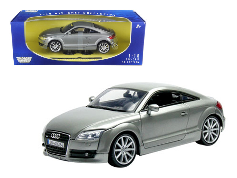 2007 Audi TT Coupe Grey 1/18 Diecast Car Model Motormax 73177