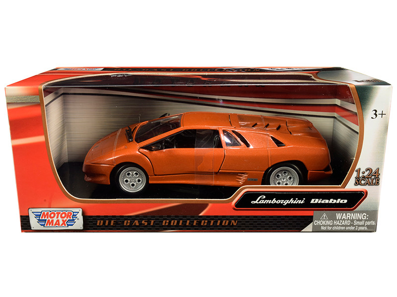 Lamborghini Diablo Copper Orange Metallic 1/24 Diecast Model Car Motormax 73201