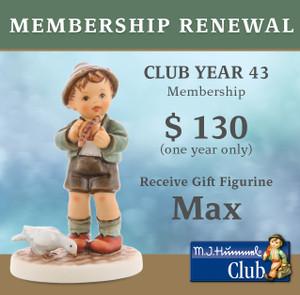 Membership Renewal (Club Year 43) + Hum 2293 Parlor Pal