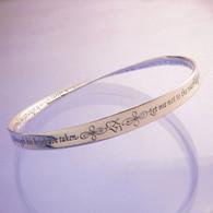 Shakespeare Sonnet 116 Mobius Bracelet