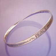 St. Francis Prayer Mobius Bracelet