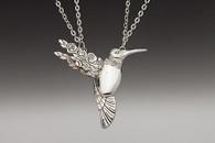 Silver Spoon Hummingbird Necklace