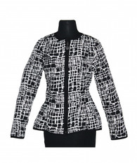 Peplum Reversible Jacket Cobblestone Black