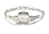 SOLD Vintage Ladies Bulova Diamond Watch in 14kt White Gold