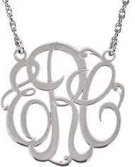 Custom Monogram Necklace in Sterling SIlver