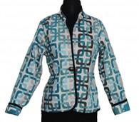 Classic Reversible Jacket Trellis Aqua
