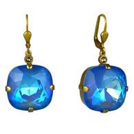 La Vie Parisienne Square Crystal Earring