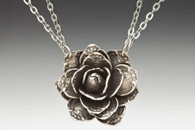 Silver Spoon Rose Necklace
