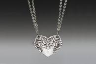 Silver Spoon Rosemary Heart Necklace
