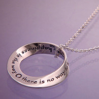 Happiness is the Way Mobius Necklace