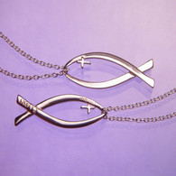 Ichthys Christian Fish Necklace