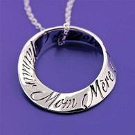 Mom in 10 Languages Mobius Necklace