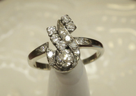 SOLD 14k White Gold and Diamond Ring