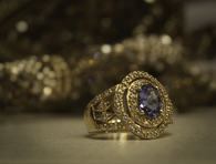 SOLD 14K Gold Tanzanite Diamond Ring