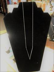 Sterling Silver Long V Shape Necklace