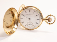 18kt Gold Waltham Pocket Watch Victorian