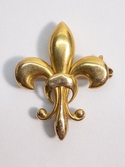 Antique Fleur-de-lis Pin in 18kt Gold