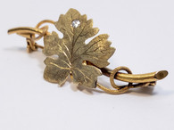 14kt Antique Diamond Grape Leaf and Vine Brooch
