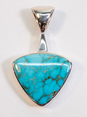 Turquoise Trillion Art Pendant Carico Lake