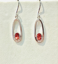 Oval Oregon Sunstone Earrings