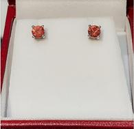 4mm Oregon Sunstone Post Earrings