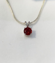 Oregon Sunstone Solitaire Pendant Necklace