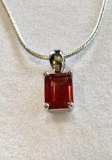 Oregon Sunstone Rectangular Pendant Necklace