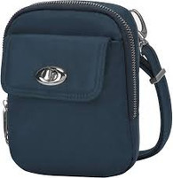 Anti-Theft Tailored Crossbody Phone Pouch, Sapphire