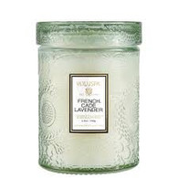 French Cade Lavender Small Glass Jar Candle