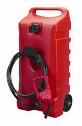 Flo N'Go DuraMax 14-Gal. Gas Caddy Fuel Siphon Portable Container Wheeled 06792