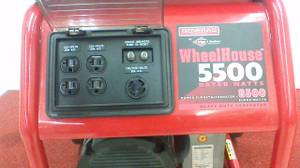 Generac 5500 Watt Wheelhouse Portable Gas Generator-Used